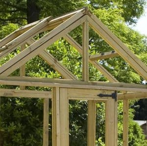 6 x 6 Waltons Pressure Treated Wooden Greenhouse Apex Roof
