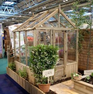 6 x 6 Waltons Pressure Treated Wooden Greenhouse Side View