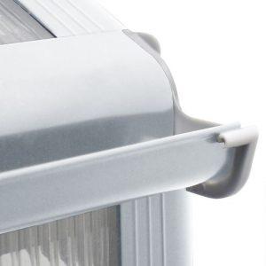 8' x 6' Nison EaZi-Click Polycarbonate Greenhouse Gutter