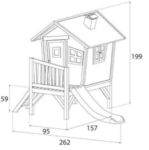 9 x 5 Robin Axi Playhouse Overall Dimensions