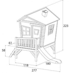 9 x 6 Iris Axi Playhouse Overall Dimensions