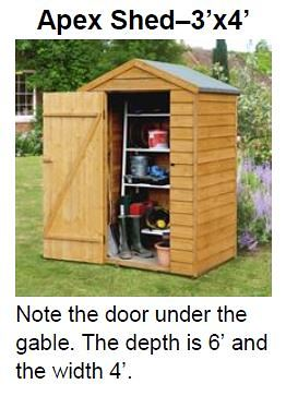 Apex Shed 3 X 4