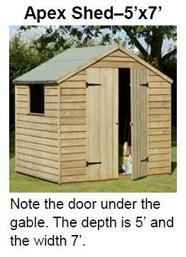 Apex Shed 5 X 7
