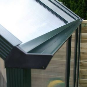 Greenhouse 6 x 6 Waltons Extra Tall Polycarbonate Clip Model Gutter