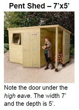 Pent Shed 7 X 5_2