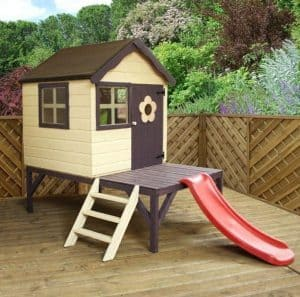 Playhouses For Girls - 4' X 4' Jellytot Cosy Tower Playhouse With Slide