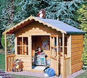 Playhouses For Girls - 6' X 5' Shire Pixie Wooden Playhouse