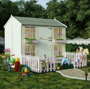 Playhouses For Girls -  7' X 5' BillyOh Gingerbread Playhouse With Bunk And Picket Fence