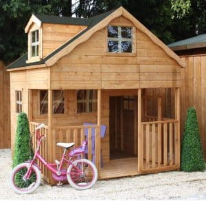 Playhouses For Girls - 7' X 7' Windsor Primrose Playhouse With Dormer Window