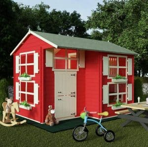 Playhouses For Girls - BillyOh Mad Dash Annex Log Cabin Wooden Playhouse
