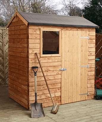 Walton's Reverse Apex Overlap Wooden 6' X 4' Shed