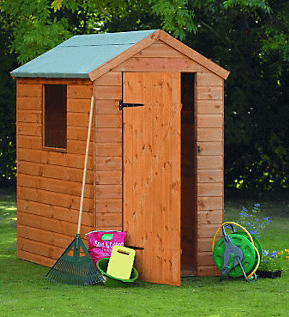 6' x 4' Forest Shiplap Apex Wooden Shed (1.78m x 1.19m)