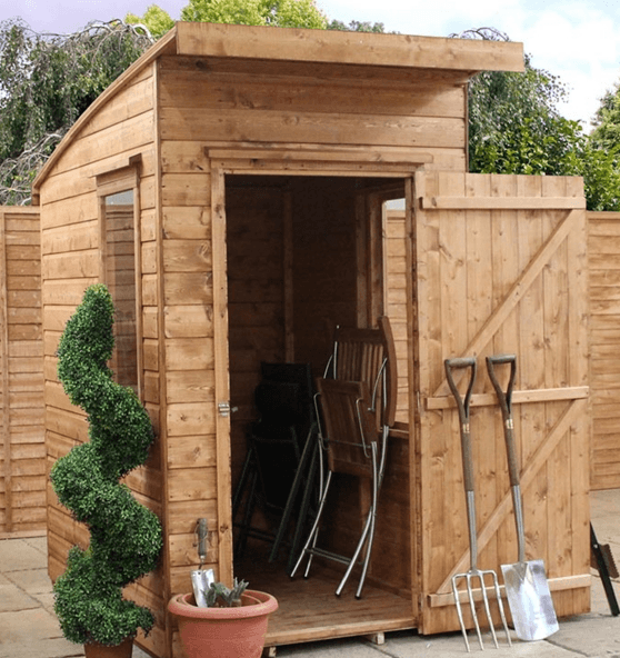 6 x 4 115x175m windsor curved roof aero shed