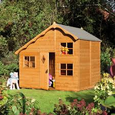 8' X 7' Rowlinson Playaway Swiss Cottage Childrens/ Kids Garden Playhouse