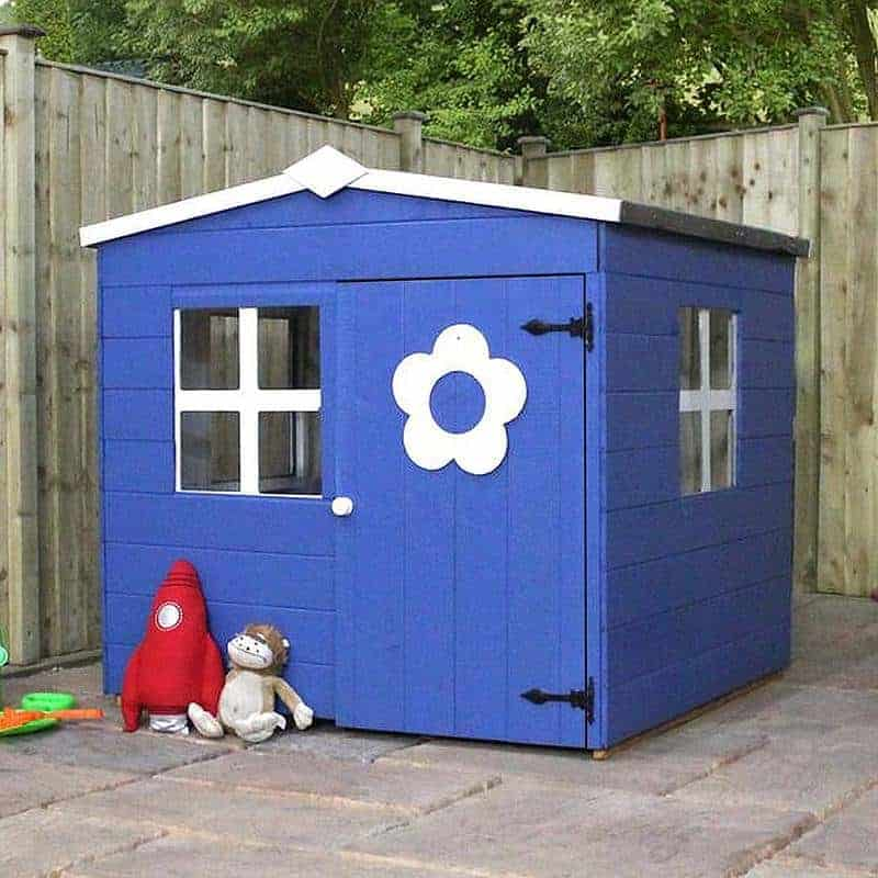 4 x 4 Waltons Honeypot Bluebell Apex Wooden Playhouse