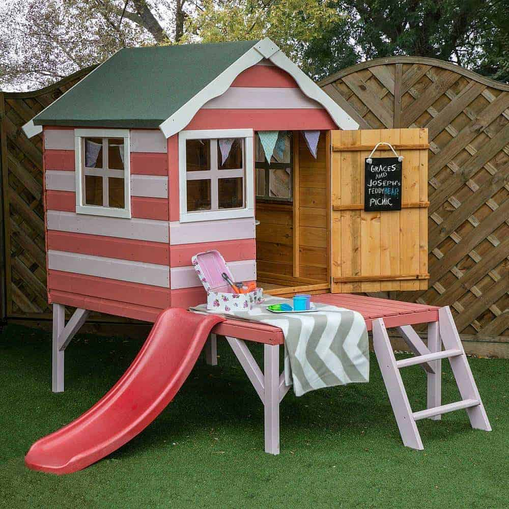 Waltons Honeypot Snug Tower Wooden Playhouse with Slide