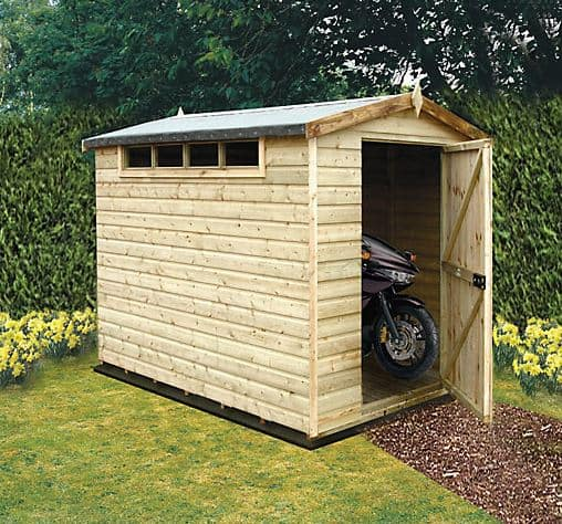 10' x 6' Traditional Apex Wooden Security Garden Shed (3.05m x 1.83m)