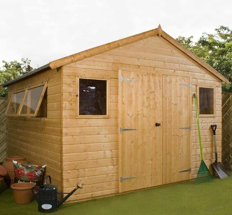 10' x 10' Windsor Groundsman Wooden Workshop Shed (3.18m x 3.11m)