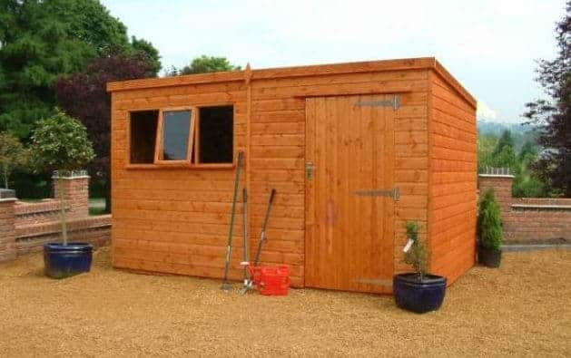 10' x 8' Traditional Tongue and Groove Heavy Duty Pent Wooden Shed (3.05m x 2.44m)