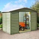10 x 12 Shed - Yardmaster Shiplap Metal 10 x 12 Shed With Floor Support Kit
