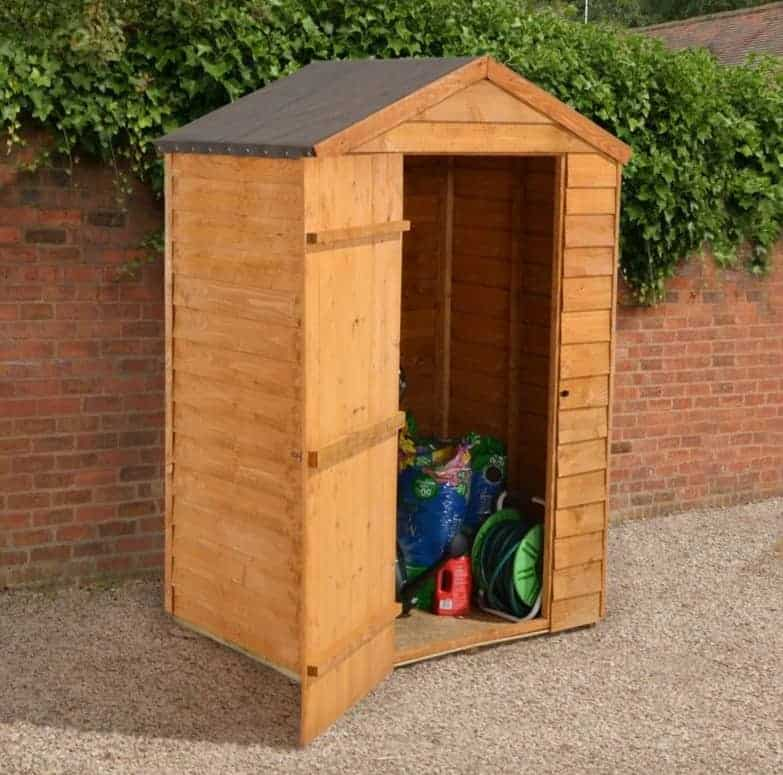 4' x 3' Forest Overlap Apex Dip Treated Wooden Windowless Shed (1.32m x 0.90m)