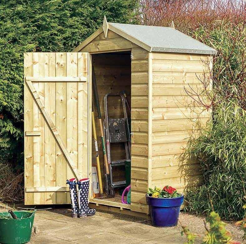 4' x 3' Rowlinson Oxford Wooden Garden Storage Shed (1.3m x 0.94m)