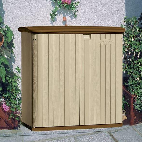 4' x 3' (1.31 x 0.78m) Suncast Resin Kensington Six Store - Plastic Garden Storage