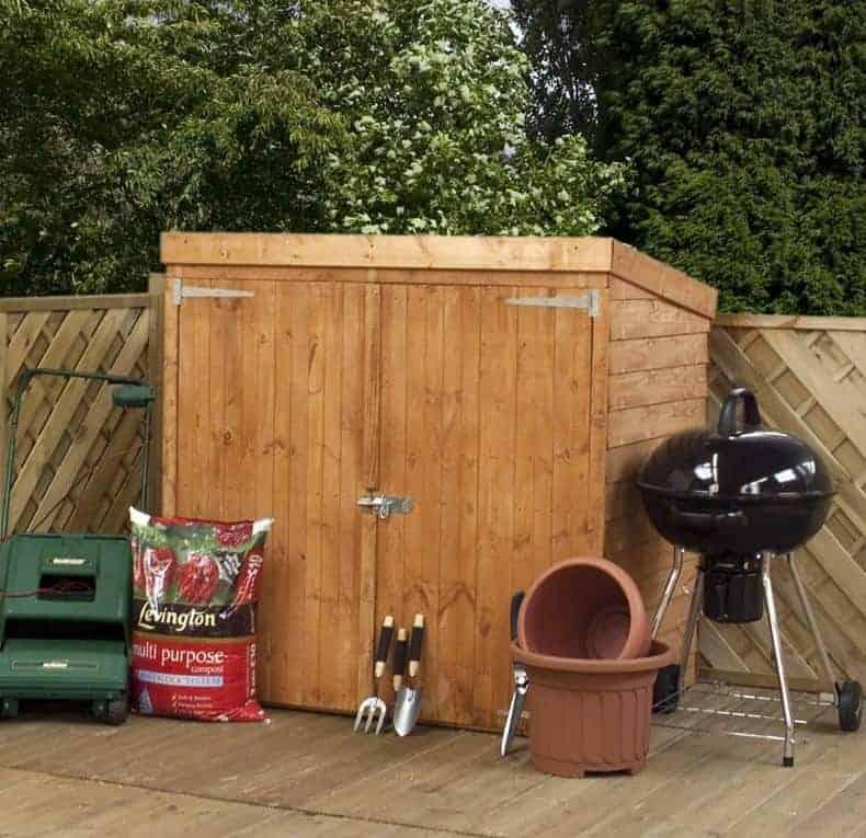 5x3 Windsor Overlap Mower Wooden Garden Storage