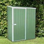 5x3 Sheds - Absco Easy Store 1PE Green Metal 5x3 Sheds