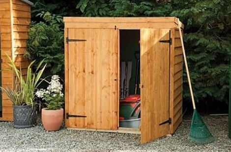 6' x 2'6 Forest Large Double Door Pent Wooden Garden Storage - Bike Store / Mower Outdoor Store (1.8m x 0.75m)