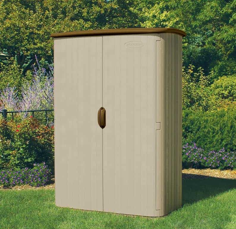 5' x 3' (1.42x0.76m) Suncast Resin Conniston Four Vertical Shed - Plastic Garden Storage