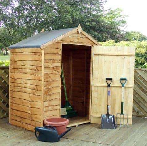 5' x 3' Forest Overlap Apex Dip Treated Wooden Windowless Shed (1.62m x 0.94m)