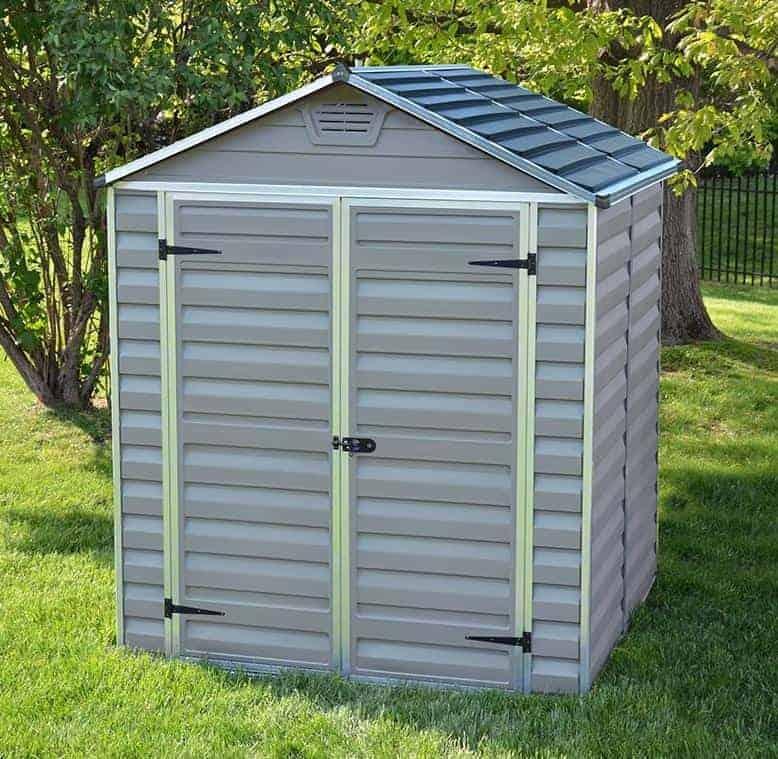 palram grey skylight 6x5 plastic shed - Garden Sheds 6 X 5