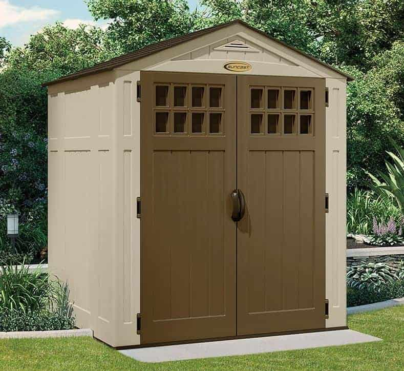 suncast new adlington four 6x5 plastic shed