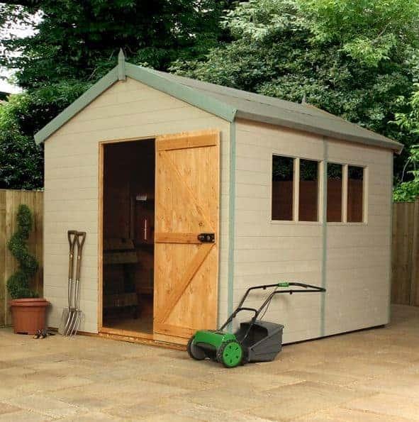 Waltons 10 x 6 Overlap Double Door Apex Wooden Shed