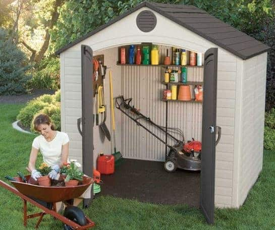8' x 7.5' Lifetime Special Edition Heavy Duty Plastic Shed (2.43m x 2.28m)
