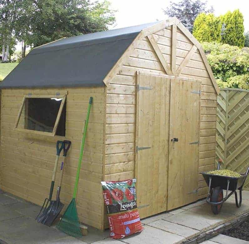8' x 8' Windsor Groundsman Dutch Barn Wooden Shed (2.57m x 2.44m)
