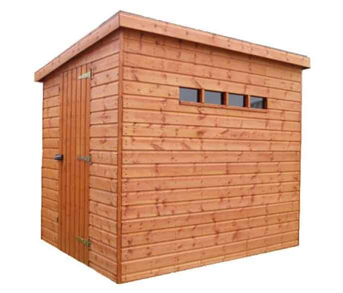 8' x 8' Traditional Pent Security Wooden Garden Shed (2.44m x 2.44m)