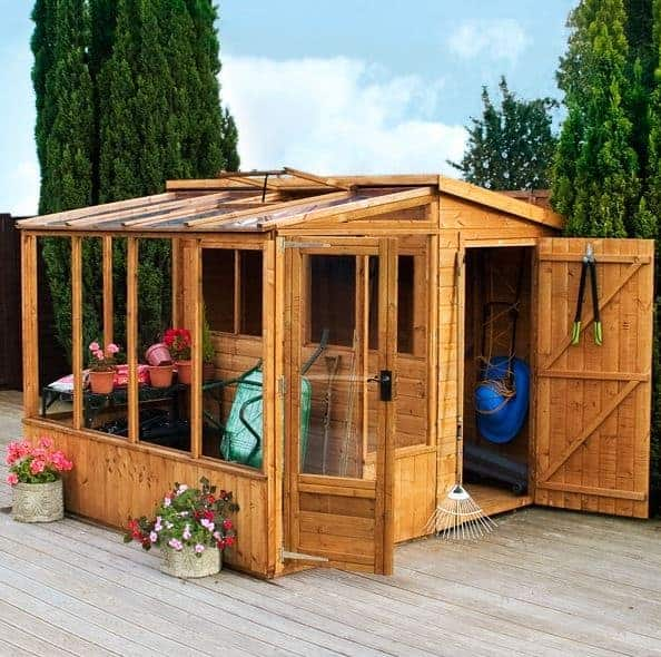 Waltons 8x8 Sheds Tongue And Groove Combi Greenhouse And Wooden Shed