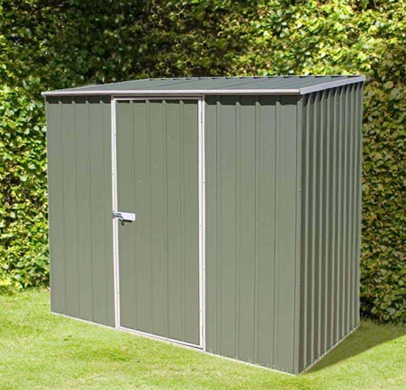 7'5 x 5' Absco Storemaster 2PE Green Metal Shed (2.26m x 1.52m)