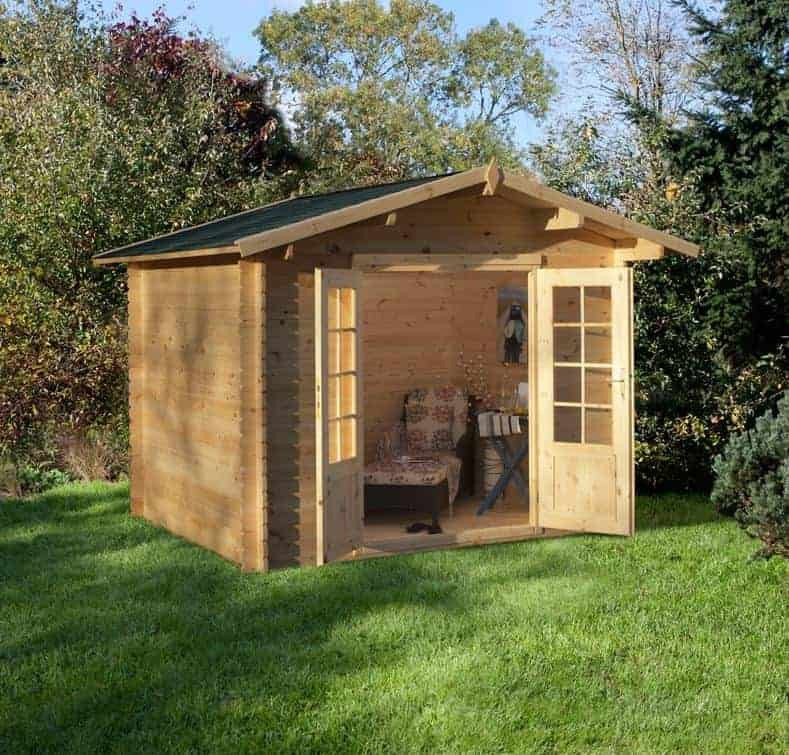 Alpine Fernie 2.7m x 2.5m Log Cabin Summerhouse (19mm)