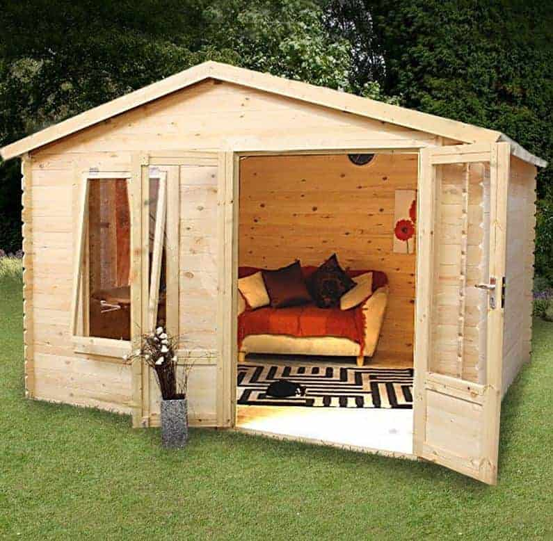 Alpine Banff 2.6m x 3.3m Log Cabin Summerhouse (19mm)