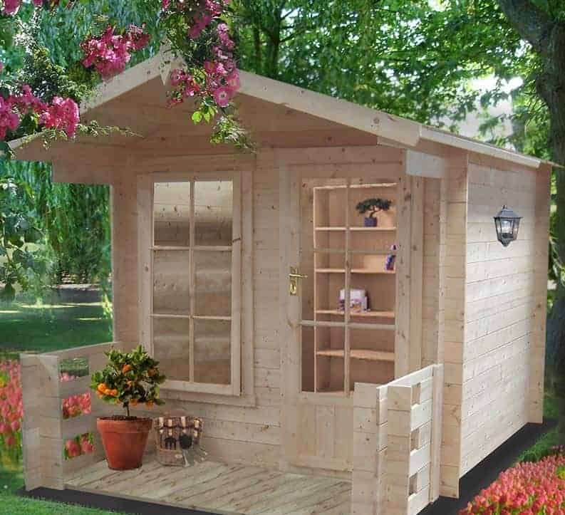 Shire Maulden 2.4m x 3.2m Log Cabin Summerhouse (19mm)