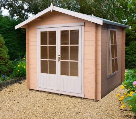 Shire Barnsdale 2.1m x 2.1m Wooden Log Cabin Summerhouse (19mm)