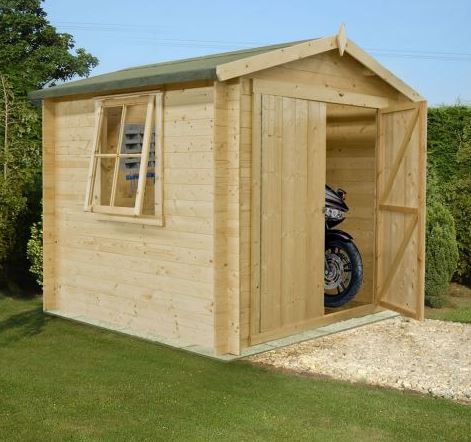 Shire Bradley 2.1m x 2.1m Log Cabin Shed (19mm)