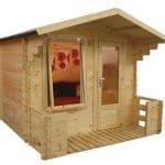 Cheap Log Cabins - Walton Mini Studio Cheap Log Cabins With Veranda
