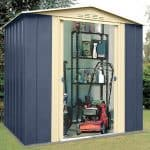 Cheap Metal Sheds - 6' X 5' Shed Baron Grandale Mountain Blue Cheap Metal Sheds