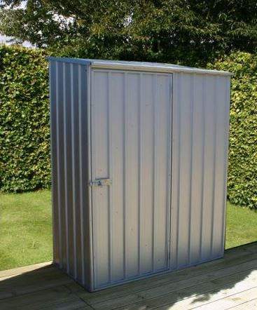 Adley 5' x 3' Green Titanium Pent Metal Shed