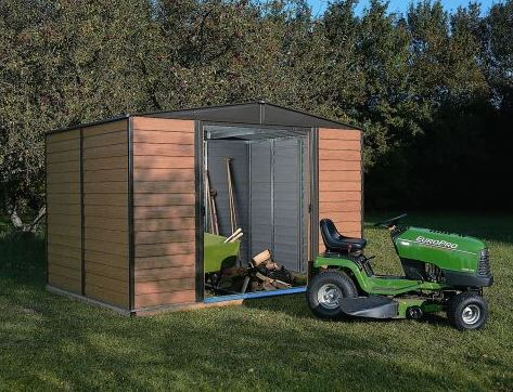 6'4 x 5' Arrow Woodvale Garden Metal Storage Shed (1.94m x 1.51m)