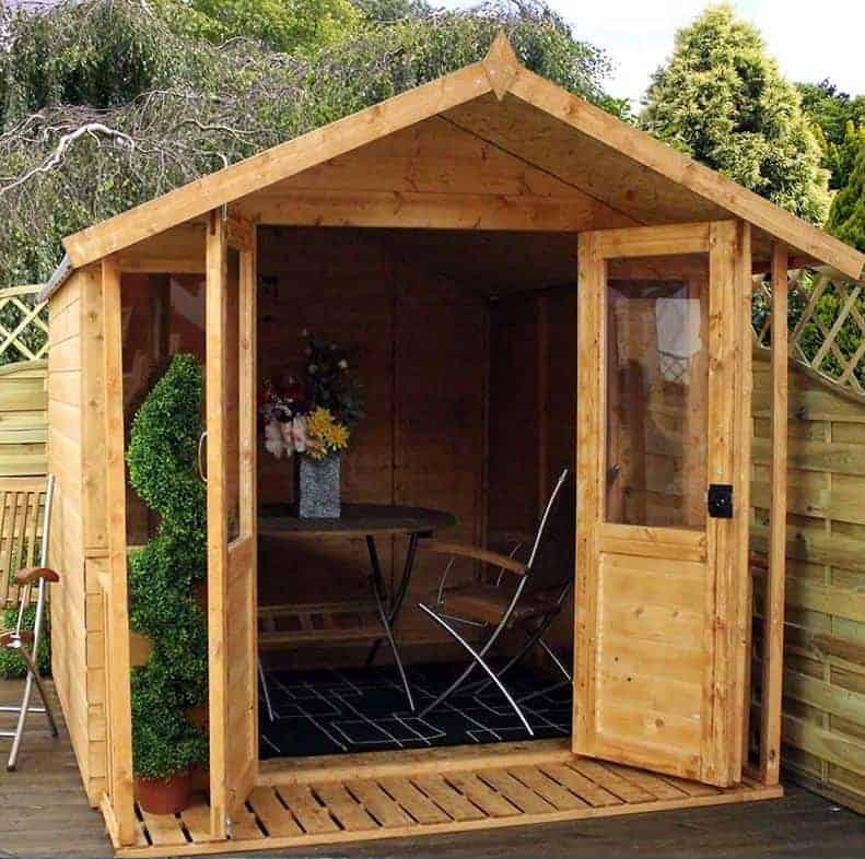 8x7 Windsor Traditional Wooden Summerhouse with Veranda